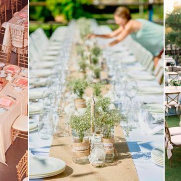 Las mesas, el elemento más visual de una boda