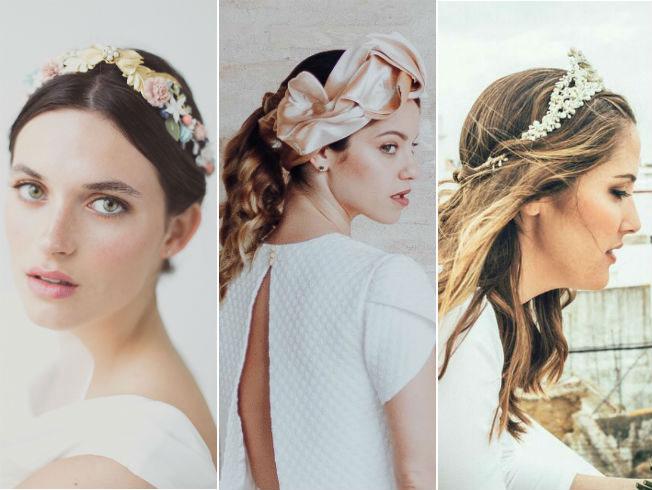 Las coronas son un elemento más discreto para una novia